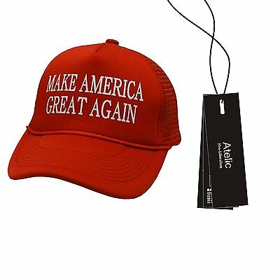 #1 TOP RATED Cap - Atelic® Make America Great Again Hat 2016 - Embriodered...
