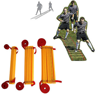 Speed Agility Fitness Training Ladder Footwork Football 3/6/10 Metres Flat Rungs