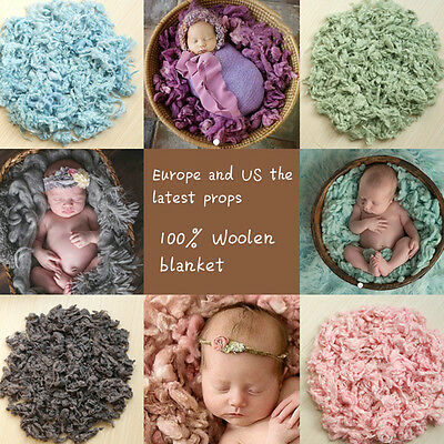 Newborn Baby Soft Wool Basket Stuffer Backdrop Toddler Photo Photography Prop