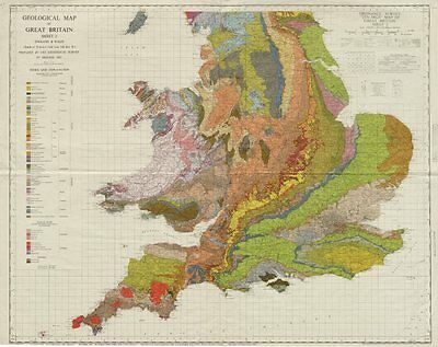 Geological map of Great Britain Sheet 2. South. England & Wales 1966 old
