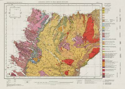 Sutherland geological survey map sheet 5. Scotland Scottish Highlands 1972