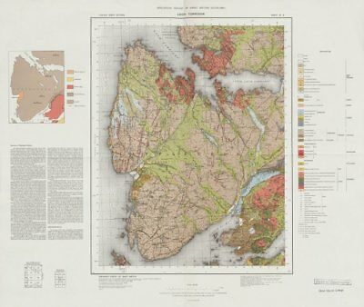 Loch Torridon geological survey map sheet 81. Scotland Applecross Peninsula 1975