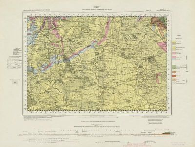 Selby. Vintage geological survey map. Sheet 71. Yorkshire River Ouse 1959