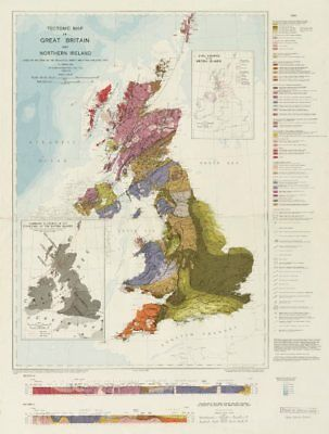 Tectonic map of Great Britain and Northern Ireland. Geological survey 1966