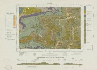 Haslemere. Vintage geological survey map. Sheet 301. Surrey South Downs 1969