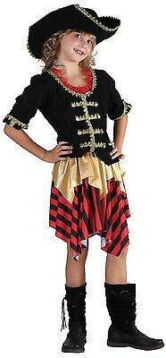 Girls Buccaneer Sweetie Pirate Party Book Day Fancy Dress Costume Outfit 7-14yrs