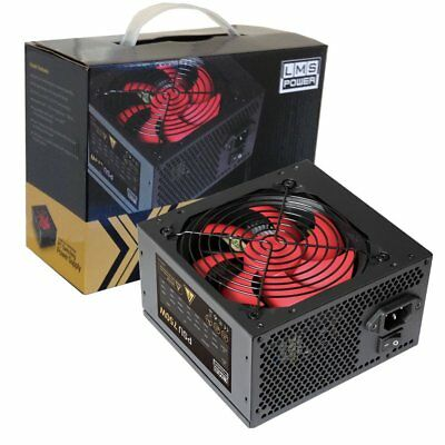 LMS Data 750W ATX PC Computer Power Supply PSU PFC 6-pin PCI-E 12CM Red Fan