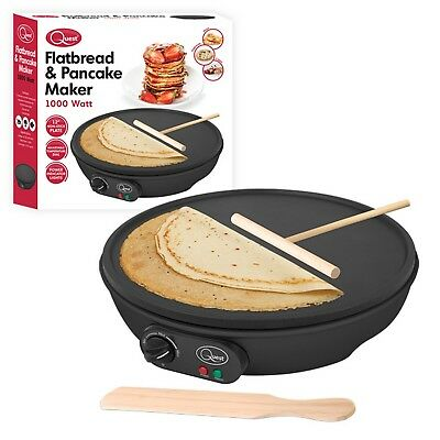 12 Inches Electric Flatbread Pancake Crepe Maker Large Non-stick Plate 1000W New