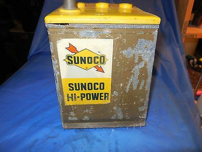 Sunoco Vintage 6 Volt Cut Open Battery Counter Display!!!