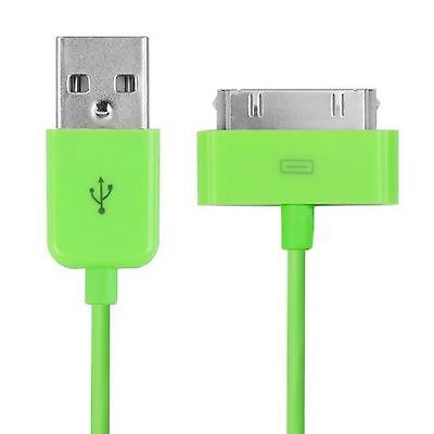 20 x iPad 2 iPhone 4/4S/3/3G Sync Charger Cable WHOLESALE/BULK/JOB LOT GREEN