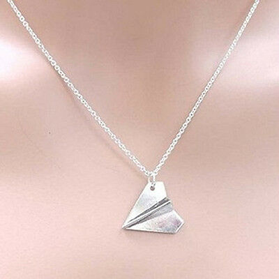 ONE DIRECTION Harry Styles PAPER AIRPLANE Silver Necklace Pendant Plane DSUK