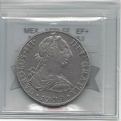 **1779 FF**Mexico, Silver 8 Reales, Coin Mart Graded **EF**