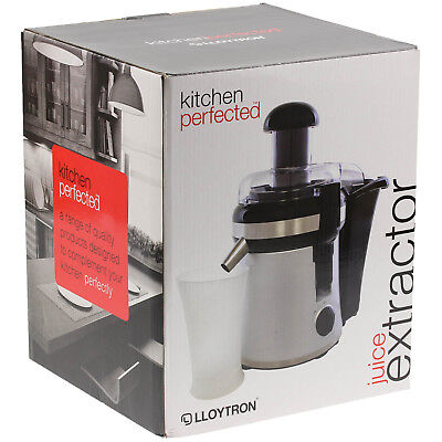 Lloytron Kitchen 0.3 Litre Black Half Fruit Vegetables Juice Extractor Machine