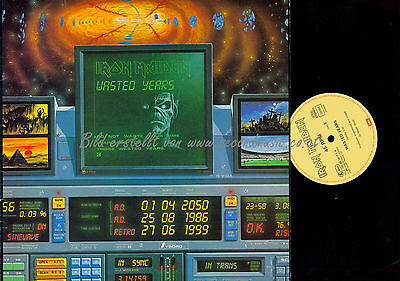 """12"""" MAXI LP // Iron Maiden – Wasted Years // K0602014176 // 1986"""