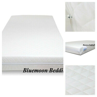 Quilted Travel Cot Mattress With Removable Cover Fully Breathable 95 X 65 X 10Cm