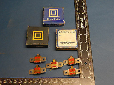 Lot of 5 Square D B22 Overload Relay Thermal Unit