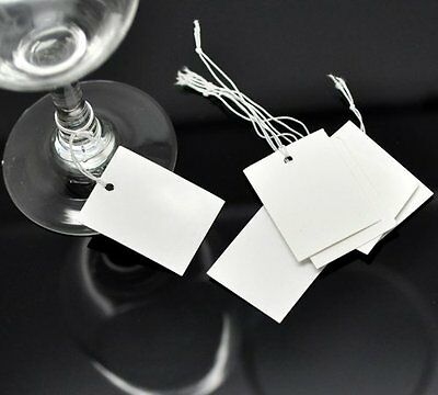 PEPPERLONELY Brand 200PC White String Price Tags Jewelry Clothing Sale Display x