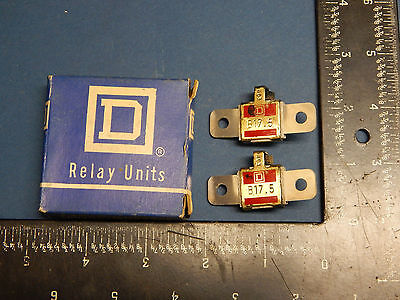 Lot of 2 Square D B17.5 Overload Thermal Unit B175