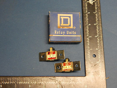 Lot of 2 Square D B6.25 Overload Relay Thermal Unit B625