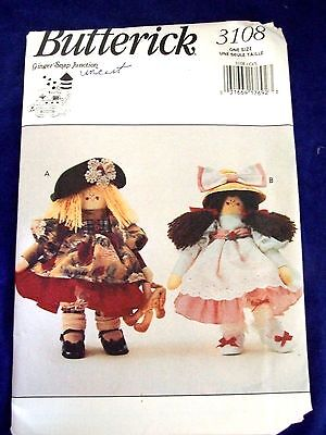 Uncut Butterick# 3108  Annie Apple Cheeks Dolls & Bunny Craft Sewing Patterns