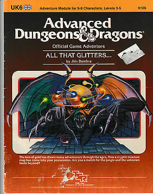 Advanced Dungeons and Dragons Adventure Module - All That Glitters... - 1984 TSR