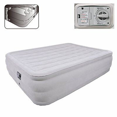 Jilong Queen Deluxe High Rising - maxi double air bed with integrated electric p
