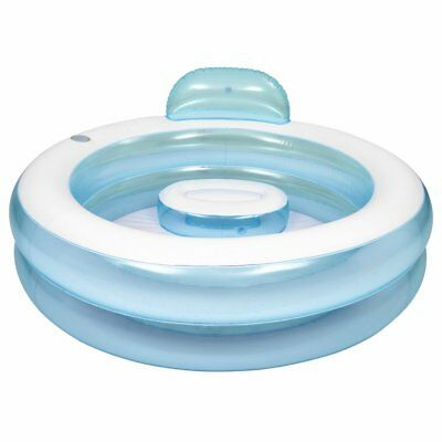 Jilong Round Pool with seat -  transparent family pool, paddling pool with a sea