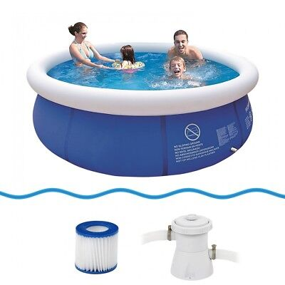 Jilong Prompt Set Pool Marin Blue 300 Set - quick-up pool set with filter pump,