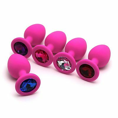 Portable Female Male Silicone Plug With Crystal Jewelry Small Size Perfect Gift