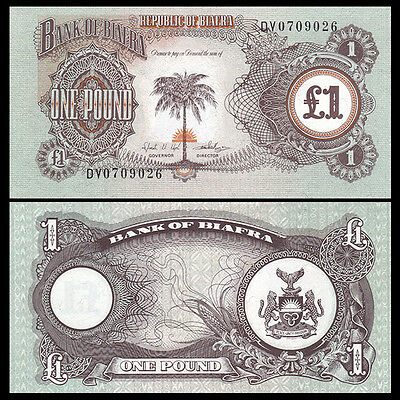 Biafra 1 Shilling, ND(1968-69), P-5a, UNC