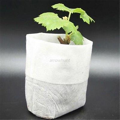 100pcs Nursery Pots Plant Seedling Raising Bags Plant Pouch Garden Supply 3 Size
