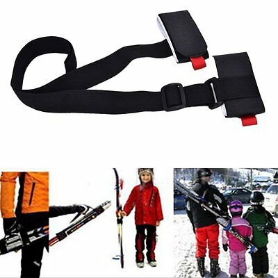 Adjustable Ski Pole Shoulder Hand Carrier Lash Handle Straps Porter Hook Loop HT