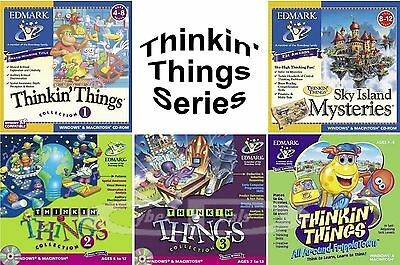 Thinkin Things Kids Learning Games PC Windows Vista 7 8 10 Sealed New