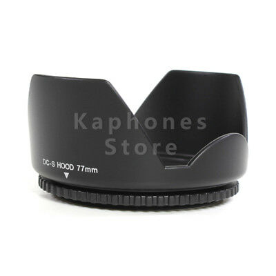 77mm Flower Petal Lens Hood For Canon Nikon Sony Pentax OM High Quality Black