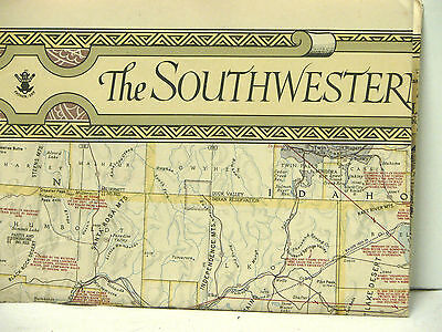 1940 National Geographic Map The Southwestern United States w/Descriptive Notes