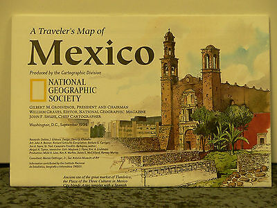 Vintage 1994 National Geographic Map of Mexico