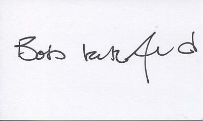 A 13cm x 7.5cm Plain White Card Signed by Bob Latchford. Birmingham C., Everton.