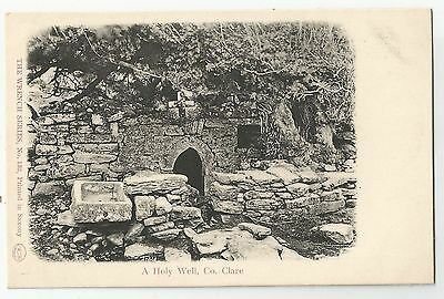 k irish postcard ireland clare holy well