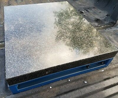 Precision Granite Surface Conditioning Inspection Plate Table W Vacuum Base