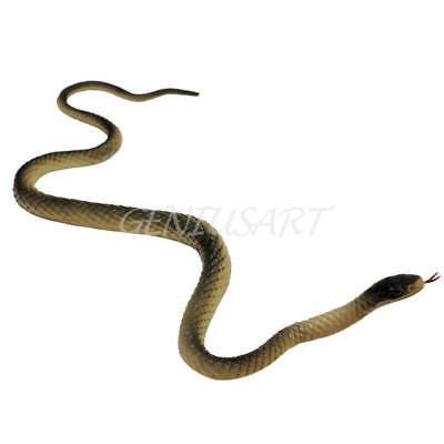 40cm Artificial Fake Soft Rubber Snake Realistic Animal Prank Joke Trick Toy