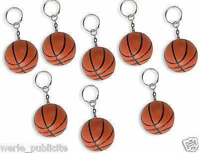 LOT de 25 PORTE CLES BALLON BASKET BASKETBALL anti stress