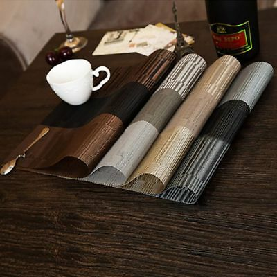 4pcs/Set Modern Style Dining Table Placemat Waterproof Restaurant Table Pad Mat