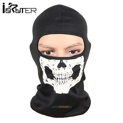 Motorcycle Bike Cycling Balaclava Ghost Skeleton Skull Mask Face Neck Head Cap