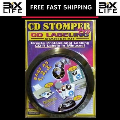 CD STOMPER PRO LABELING KIT with LABELS BRAND NEW LABEL APPLICATOR