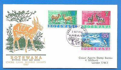 Botswana.chobe Game Reserve Stamps 1967.first Day Cover