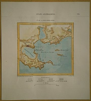1889 Perron map ALBANY & KING GEORGE SOUND (FRENCHMAN BAY), WESTERN AUSTRALIA