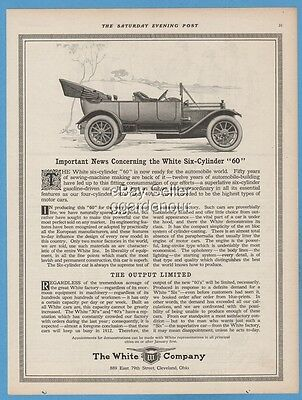 1911 The White Company 60 Cleveland OH Antique Open Motor Car Automobile Ad