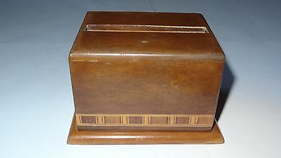 CIGARETTE DISPENSER BOX Very Rare Vintage Collectible Made in Brazil Inlay Wood