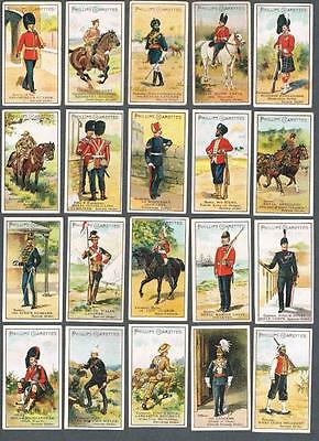 1900 Godfrey Phillips Types of British Soldiers Tobacco Cards Complete Set of 25
