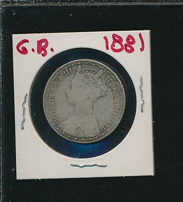 Great Britain  - Silver Florin - Gothic 1881 -  A Biu